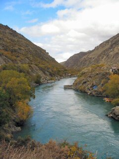 Jetboatstation am Kawarau River